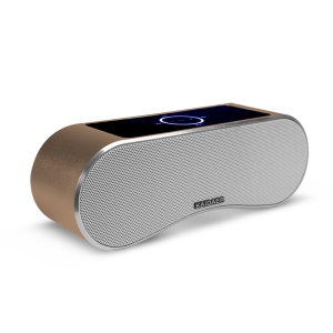 KAIDAER Portable Wireless Bluetooth Hands-free Speaker Support U Flash Disk TF Card FM Radio - Brown