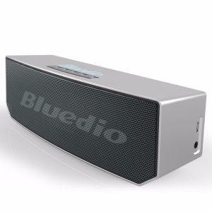 BLUEDIO BS-5 Portable 3D Wireless Bluetooth 4.1 Stereo Speaker Music Player Support Aux-in - Grey