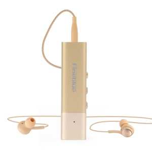 FINEBLUE W688 Collar Clip-on Bluetooth Earphone with 3.5mm Jack - Gold