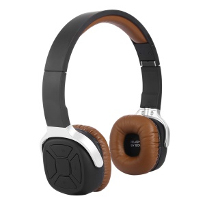 NEW BEE Foldable Bluetooth Headset Feature Pedometer NFC Connecting - Brown