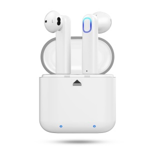 True Wireless Bluetooth 5.0 Double Earphones HiFi Headset + 500mAh Charge Case - White