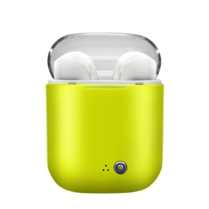 i7S Portable TWS In-ear Wireless Bluetooth 4.2 + EDR Stereo Double Earphones with Charging Box - Green