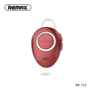 REMAX T22 Mini Portable Wireless Bluetooth 4.2 Single Headphone with Mic - Red
