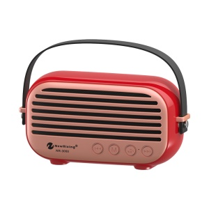 NEWRIXING NR-3000 Outdoor Mini Bluetooth 4.2 Subwoofer Speaker, Support Aux-in/TF Card/USB Input/FM - Red