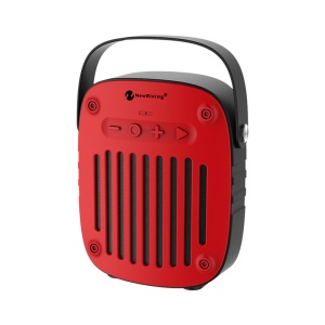 NEWRIXING BR-4010 Portable Bluetooth 4.2 Speaker Build-in Mic Support FM Radio/TF Card/Aux-in - Red