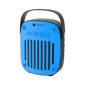 NEWRIXING BR-4010 Multifunctional Outdoor Sports Portable Bluetooth Speaker Support FM Radio/TF Card/Aux-in with Mic - Blue