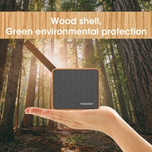 MOSSLOO XJ0810 Wooden Bluetooth 4.2 Speaker with Touch Control Button