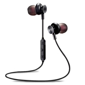 M6 Bluetooth 4.2 Wireless Stereo Sports In-ear Earphone with Mic Volume Control - Black