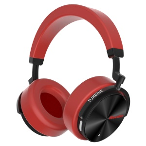 BLUEDIO T5 Over-ear Wireless Bluetooth V4.2 Stereo Headset Headphone with Microphone - Red
