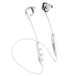 BASEUS Encok S10 Dual Dynamic Driver In-ear Bluetooth Headphone with Mic - White