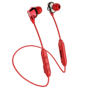 BASEUS Encok S10 Dual Dynamic Driver In-ear Bluetooth Earbuds with Mic - Red