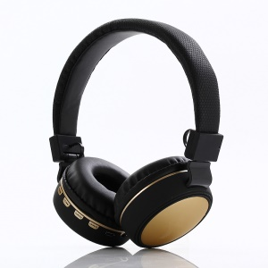 KD20 Over-ear Bluetooth 4.2 Hands-free Headset, Support FM/TF Card/Aux-in - Gold
