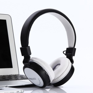 KD18 Over-ear Wireless Bluetooth Headphone with Mic Support TF Card FM Radio AUX-in - White
