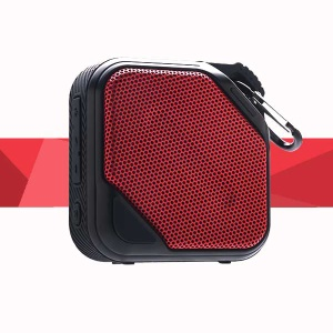 Mini Portable Waterproof Outdoor Bluetooth Speaker Support TF Card/Aux-in - Red