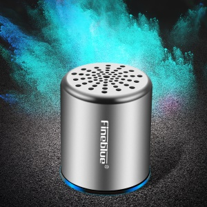 FINEBLUE MK-10 HiFi Sound TWS Bluetooth 4.2 Mini Wireless Metal Speaker - Silver