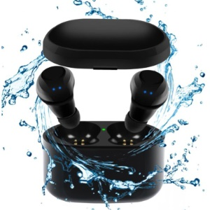 X6 TWS Bluetooth Earbuds IPX5 Waterproof Wireless Stereo Earphones with Charging Box - Black