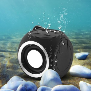 Mini Cute DT-B660 Bluetooth V4.1 Speaker IPX7 Waterproof - Black