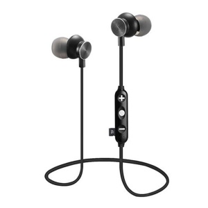 JEDX-14M Auricolare Senza Fili Magnetico Bluetooth 4.1 In-ear Con Supporto Microfono Carta Di TF Per Iphone Samsung - Nero