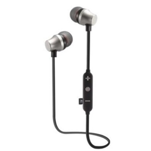 JEDX-13M Magnetic Attraction Bluetooth Earphone Support TF Card / Hands-free Phone Calls Sport Wireless Headphone - Silver