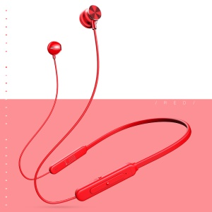 USAMS USAMS-YD S1 Stereo Wireless Bluetooth V4.2 Sports Headset Headphone with Microphone - Red