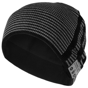 Unisex Fashionable Stripes Pattern Bluetooth Music Hat Winter Warm Knitted Sports Hat with Mic