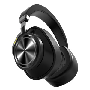 BLUEDIO T6 Folding Over-ear Bluetooth 5.0 Stereo Headset with Microphone Function - Black