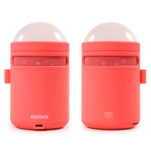 REMAX Handsfree Bass Bluetooth Speaker with Atmosphere LED Lamp (RB-MM) - Red