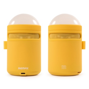 REMAX Handsfree Bass Bluetooth Speaker with Atmosphere LED Lamp (RB-MM) - Yellow
