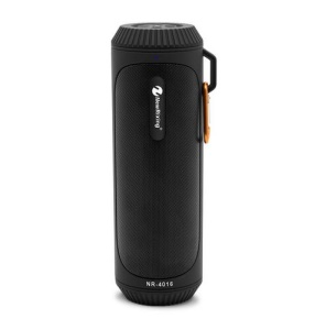 Outdoor Waterproof Bluetooth Speaker with Mic Support TF Card/Aux-in/U Disk - Black