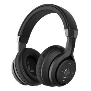 PICUN P28s Over-ear Bluetooth 4.1 Headphone with Microphone Support Aux-in - All Black