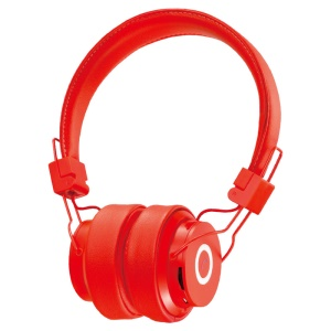 NIA-X6 Over-ear Bluetooth Headphone Support Micro SD Card Play / FM Radio / Audio Input / Hands -free Phone Call - Red