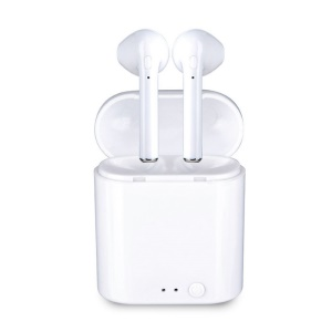 i7 TWS Mini Binaural Sports Bluetooth In-ear Earphones with Charging Box