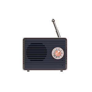 KINGXBAR Altavoz De Bluetooth Estilo Retro Para Iphone Huawei, Etc. - Azul Oscuro