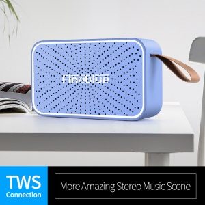 FINEBLUE MK-12 HiFi Bluetooth Speaker with Mic Support TWS/AUX/TF Card - Blue