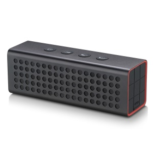 AJ-91 4400mAh Power Bank Aluminum Bluetooth Speaker with Mic Support TF Card/AUX Input - Black