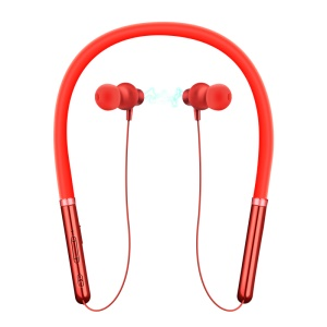 In-ear Neckband Bluetooth Earphone with Mic for iPhone Samsung Huawei, etc - Red
