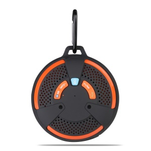 AJ-93 Mini Outdoor Bluetooth Speaker IP66 with Mic Support TF Card / AUX-in - Orange