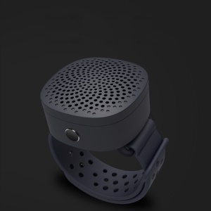S1 Mini Altofalante Sem Fio Estereofónico Do Bluetooth 4,2 Do Pulso Com Mic - Preto