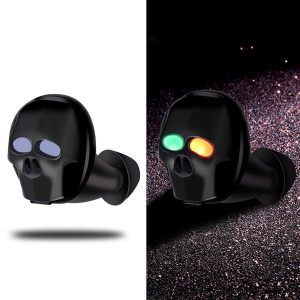 SK 20 Skeleton Mini Bluetooth Headset Noise Reduction Stereo Wireless Earphone Hands-free Calling - Black