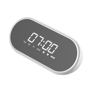 BASEUS Encok 4 in 1 Wireless Heavy Bass Stereo Alarm Clock Bluetooth Speaker E09 - White