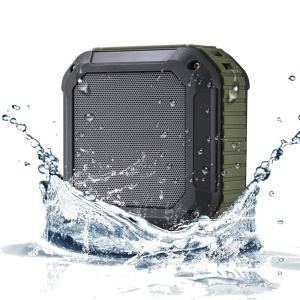 W-KING S7 Outdoor Waterproof Bluetooth Speaker with Mic Support NFC - Army Green