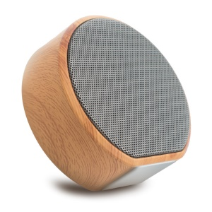 A60 Wood Grain Wireless Bluetooth Speaker Portable Mini Subwoofer Audio Stereo Loudspeaker Support TF AUX USB [Chinese Voice Prompt] - Grey