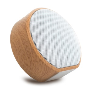 A60 Wood Grain Wireless Bluetooth Speaker Portable Mini Subwoofer Audio Stereo Loudspeaker Support TF AUX USB [Chinese Voice Prompt] - White