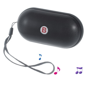 Y28S Pill LED Bluetooth Speaker with TF Card Slot/AUX-in/FM Radio/Microphone for iPhone Samsung - Black