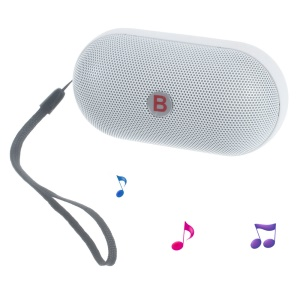Y28S Pill LED Bluetooth Speaker with TF Card Slot/AUX-in/FM Radio/Microphone for iPhone Samsung - White