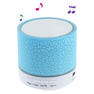Crack Pattern A9 Stereo Bluetooth Hands-free Speaker with LED Lights Support TF Card - Blue
