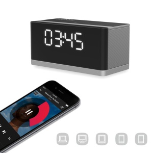 Portable Mega Bass Bluetooth Speaker Support FM/Alarm Clock/TF Card/Line-in