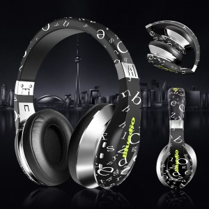 BLUEDIO A (Air) Stylish Wireless Bluetooth 3D Sound Headphone with Mic - Black