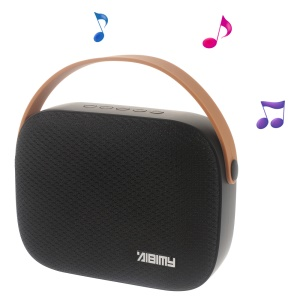AIBIMY MY550BT Bluetooth Speaker with Rubber Strap Support USB Disk/AUX-in/TF Card - Black