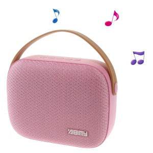 AIBIMY MY550BT Wireless Bluetooth Stereo Speaker Support USB Disk/AUX-in/TF Card - Pink